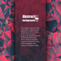 Graphic illustration with geometric pattern. Brochure template with abstract background. Eps10 Vector illustration