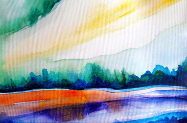 autumn water color