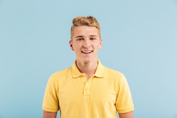 Portrait of a smiling casual teenage boy