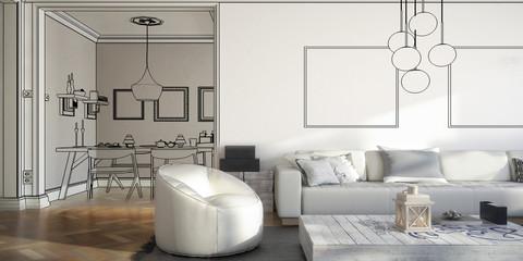 Ramgestaltung: Apartment (Projekti panoramisch)