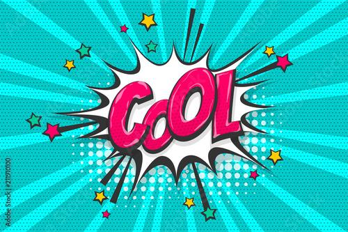 Cool burst wow comic text speech bubble  Colored pop art