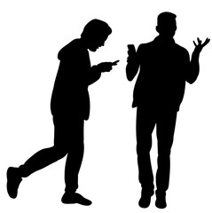 silhouette of guy with phone