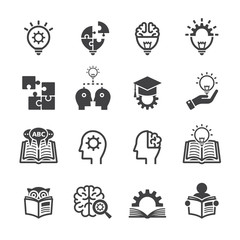 Knowledge icon set