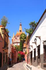 Archangel church Dome Steeple, San Miguel de Allende, Mexico