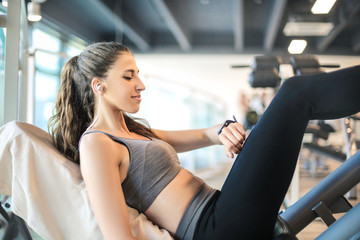 Fitness woman training in the gym