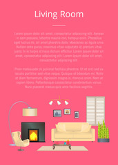 Living Room, Modern House Decoration, Color Banner