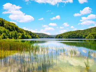 Beautiful landscape in the Plitvice Lakes National Park, Croatia.