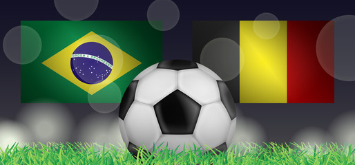 Fußball 2018 - Viertelfinale (Brasilien vs Belgien)