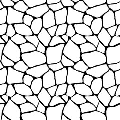 Abstract geometric black and white seamless pattern