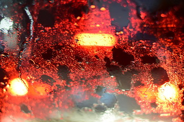 Poster Submarine Auto car glass and rain a night