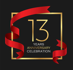 13th years anniversary celebration background