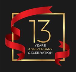 13th years anniversary celebration background