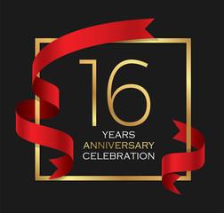 16th years anniversary celebration background