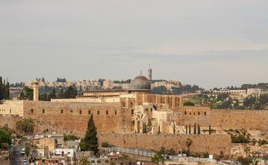 Wide view to mosque Al-aqsa, Jerusalem