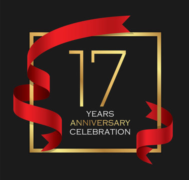 17th years anniversary celebration background