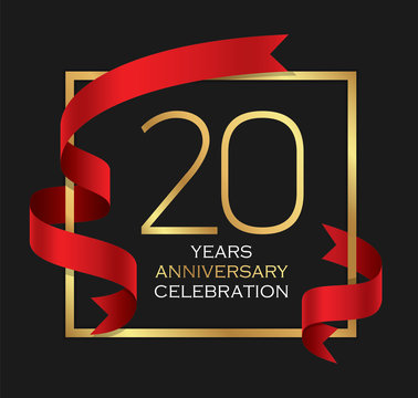 20th years anniversary celebration background