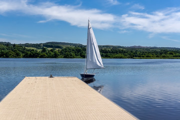Loch Semple Pontoon and Small Sail Boat.