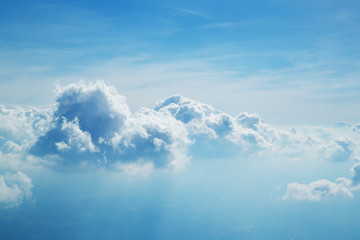Canvas Prints Heaven Above the clouds. Beautiful above sky panoramic view