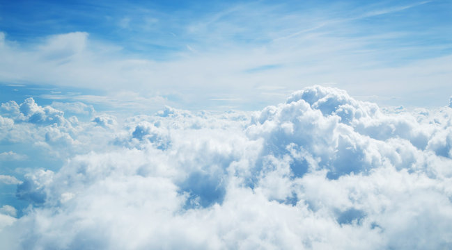 Above the clouds. Beautiful above sky panoramic view