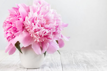 Picture with peonies