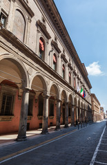 oldest university in the world located in Bologna - Italy - typical covered walkway
