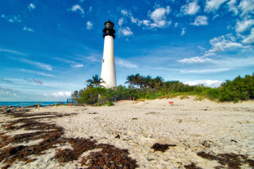 Cape Florida Lighthouse / The lighthouse at the Bill Baggs State Park near Key Biscayne, Florida