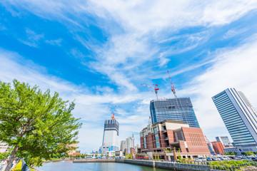 建設イメージ Construction work of high-rise building