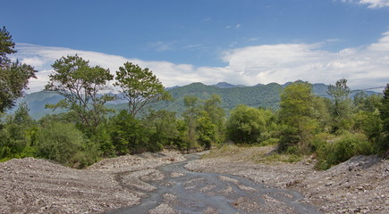 Mountain landscape from the Azerbaijani Oguz