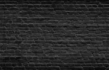 Printed roller blinds Brick wall Dark brick wall background.