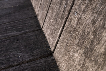 Abstract Image Of A Wooden Angle
