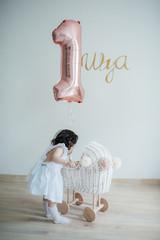 Baby girl in her birthday
