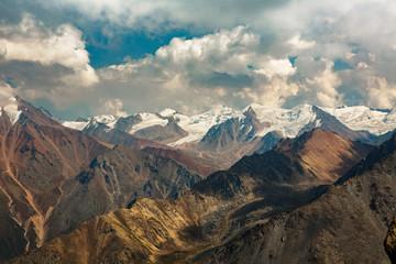 Zailysisky Alatau in Tien-Shan system, Kazakhstan.