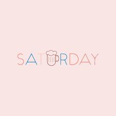 Conceptual lettering Saturday