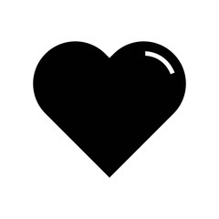 Heart black shape icon vector icon. Simple element illustration. Heart black shape symbol design. Can be used for web and mobile.