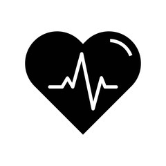 Heart beats lifeline in a heart icon vector icon. Simple element illustration. Heart beats lifeline in a heart symbol design. Can be used for web and mobile.