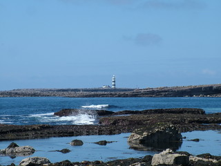 Lighthouse on Inishmore Island, Aran Island, Ireland