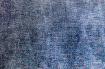 texture rubbed blue jeans fabric
