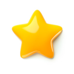 3d render star icons. icon design for game, ui, banner, design for app, interface, game development. Cartoon isolated
