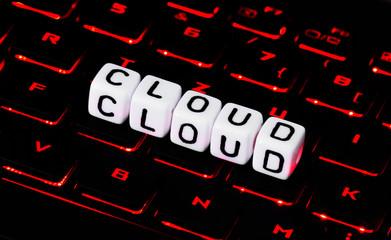 Cloud symbol on a keyboard