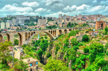 The Sidi Rached Viaduct across the Rhummel River Canyon in Constantine, Algeria