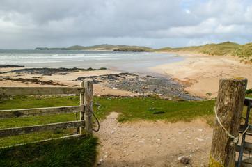 Beach, Scottish landscape. Scotland, Great Britain