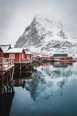 Winter fishing village