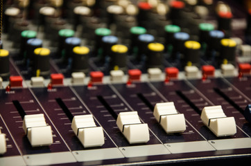 Mixer of a team that is responsible for controlling the audio.