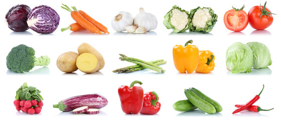 Gemüse Kartoffeln Karotten Tomaten Paprika Salat Essen Sammlung Freisteller freigestellt isoliert