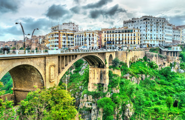 El-Kantara Bridge across the Rhummel River in Constantine, Algeria