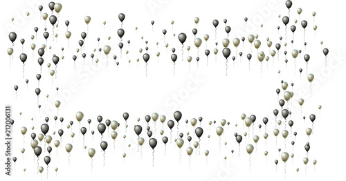 1ed985b7b31 Realistic Black and Silver Helium Balloons. Party, Christmas, Birthday, New  Year Festive