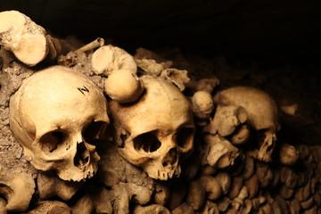 Skulls in Catacombs at Paris