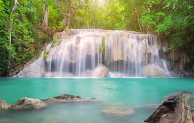 Wall Mural - Erawan Waterfall in Thailand