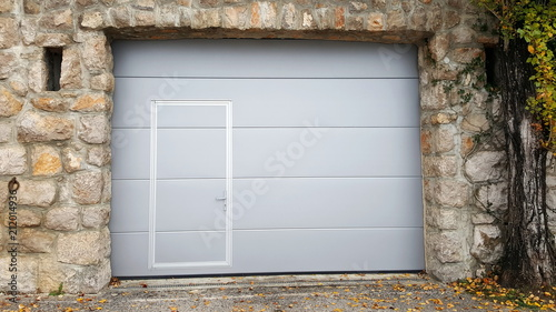 Garage Door Inside Inside Modern Roll Up Metal Garage Doors With Integrated Smaller Inside Traditional Stone Wall Frame