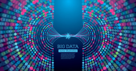 Big Data Futuristic Science Background with Copy Space.